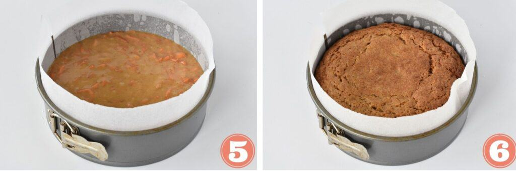 Step by step before and after baking.