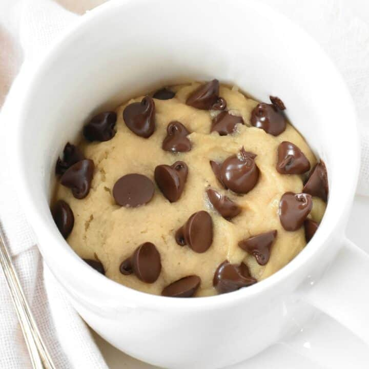 Microwave mug choc chip cookie.
