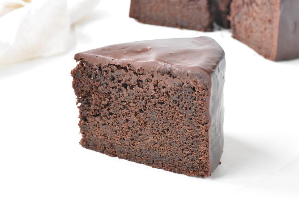 Slice of the Ultimate Chocolate Mud Cake.