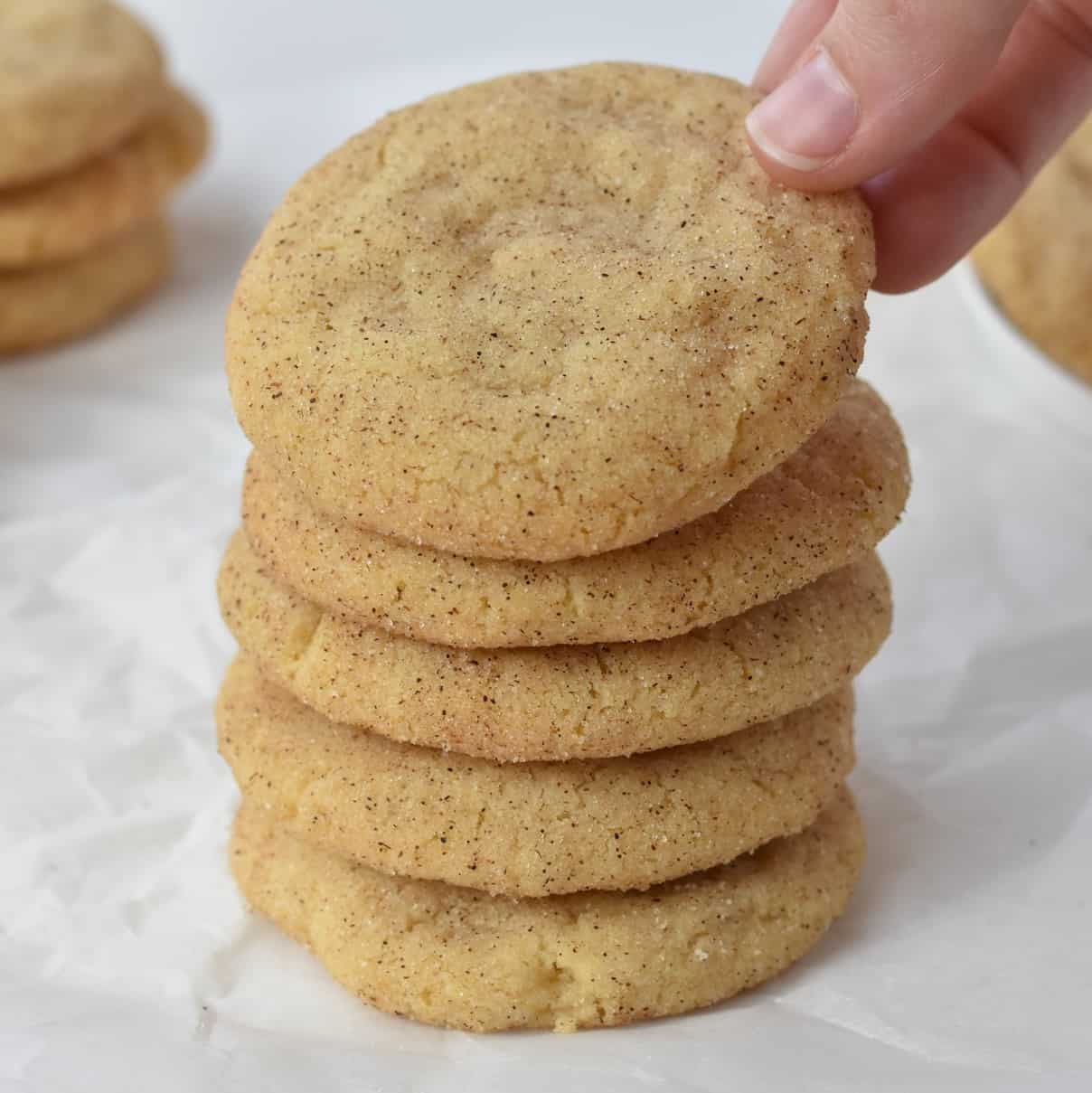 Snickerdoodles Stacked in a Pile